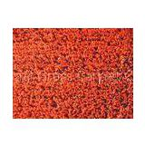 100% PP 2200Dtex Red Decorative Artificial Grass Turf Lawn for Gardens , Gauge 5 / 32 10mm