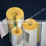 customized heat retaining use fiberglass wool pipe coated alu.foil with white paper outer