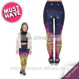 Mandala lights fancy 3d yoga fabric skinny gym mix tight pattern crossfit elastic workout ladies girl photo women leggings