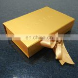 Custom Elegant Cardboard Magnet Gold paper box for cosmetic packaging