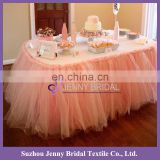 TC091-6 tutu table skirt table skirting designs for wedding tulle table skirt