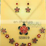 SE0018 Fashion Jewelry Sets Earrings Flower Human Heart Shape