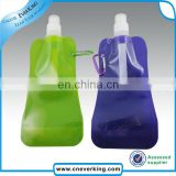 Bulk custom logo plastic collapsible sport water bottle