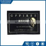jeans leather embossing labels