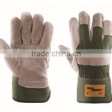 leather welding gloves/leather boxing gloves/cow split leather gloves