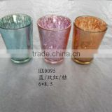 decorative glass jars and lids, mercury glass