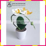 Artificial plant and orchid flower Smooth round melamine flower pot MX1408-1