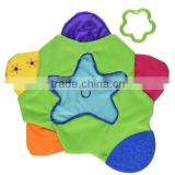 High Quality Star Teething Blanket for Baby /Soft Terry Cloth Surface and Chewy Soft Textures