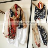 Hot Selling Retro Star Printed Fashion Women Pashmina Cotton Headscarf                                                                         Quality Choice