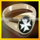 2016 new Design 925 Sterling Sliver Custom Rings Class Rings Gold Plated Jewelry