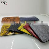 promotion high end quality genuine python leather card holder business card bag for unisex business occasion
