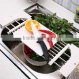 S/S+ABS 18*42*2 High quality products kitchen slide rack/stainless steel portable kitchen rack/drying rack/adjustable sink rack