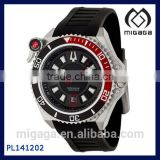 Fashion 316L men's diver's watch water proof luminescent hands /Precisionist Catamount Men's Quartz Luminescent Diver Watch