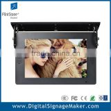 Ceiling mount 19 inch bus stop advertising lcd display poster
