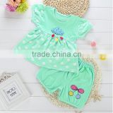 2016 Summer wholesale girls boutique cotton dress + short pants set kindergarten girl clothing baby girl boutique clothing sets
