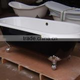 classic dual bath tub with clawfoot