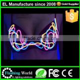 LED light bra for night entertainment venue/lady's led light costume sexy/night wear bra