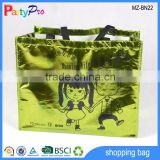 Promotional Colorful Laser Non Woven Bag Shopping Bag