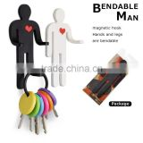 Innovative Creative BENDABLE MAN Toy Magnetic Hook
