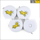 Logo Personalized Best Selling Product Plastic Case Mini Cute Cloth Tape Measure Retractable