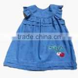 lovely baby ruffle dress new design dress without sleeve baby girl dress