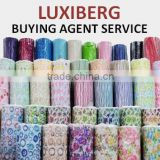 Reliable Sourcing Agent in China/ LUXIBERG/ Professional Buying Agent/ Polyester Fabric Satin for Garment/ Fabric Textured Satin