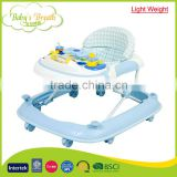 BW-12B factory sale light weight baby walker mini walker 2015 caster with washable padded seat