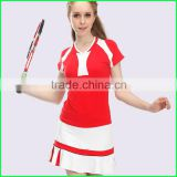 New style girls in short skirts or badminton clothing and badminton skirt with v neck made in China