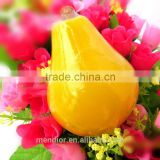Mendior Pear shaped handmade soap fruit essence face soap anti-acne make-up remove OEM custom brand
