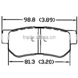 D813 58302-17A00 Kia brake pad for Hyundai for rear