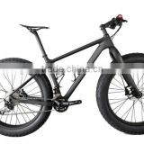 Super Light 26er Thru Axle/QR Carbon fat bike/ snow beach bike/cycling with fat tire, OEM available, made in China