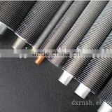 Air cooler pipe, L type aluminum 1060, O strip wound steel tube, spiral fin tube, application heat exchange.