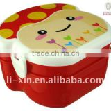 plastic cartoon lunch box (doule layer) /kid's lunch box/mess tin/dinner pail/canteen/dinner bucket