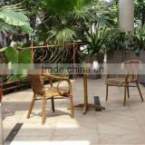 Bamboo like rattan furniture, bamboo chairs with coffee table, garden balcony set
