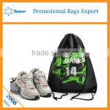 2016 new design polyester drawstring bag cord wholesale drawstring backpack
