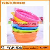 hot new products for 2016 folding silicone dog bowl