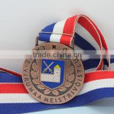 Producer high quality 3d design gold plated Europe Regional Feature and zinc alloy material metal medal with ribbon