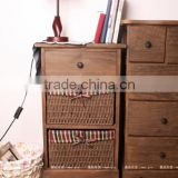 Wooden long narrow modern hallway console table chest of drawers