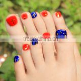 New Hot DIY Fashion Toe Sticker Nail Art Foil Adhesive Extended Wear Toe Nail Decoration Beauty