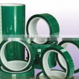 High Temperature Double Side Silicone Green PET Adhesive Tape