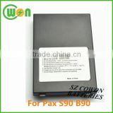 7.4V 1800mAh replacement battery for Pax S90 B90 25B1001 POS payment terminal replacement batteries high quality made in China