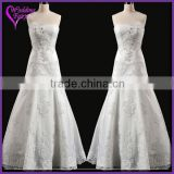 Cheap Prices!! OEM Factory Custom Design diamond beaded wedding dress