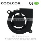 CoolCox 5020 blower fan,50x50x20mm turbo fan,sleeve bearing,5V/12V/24V,DC brushless electric blower fan