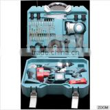 hz new best power tool sets Electrical Tool Set 4 in 1 combo kit ( electric drill ,angle grinder,impact wrench, light )