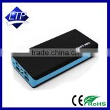 Factory direct 4 USB solar battery charger portable power bank rechargeable 20000mah power bank