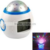 LED Starry Star Sky Projection Digital Music Alarm Clock / Music Starry table clock / desktop alarm clock