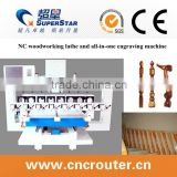 China high efficiency stair handrail cnc machine with 8 spindles milling and engraving machine