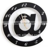 Decorative double sides simple wall clock Mechanical watch