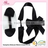 Huge Black Bows For Box Decoration, Big Ribbon Bows, Printed Grosgrain Ribbon Bows