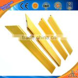 Hot! Large supply aluminum stair edging pedal enclosure/ gold cnc punch extruded aluminum straight edge